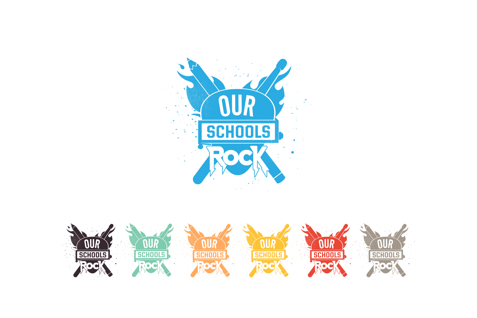 Our Schools Rock one color logo